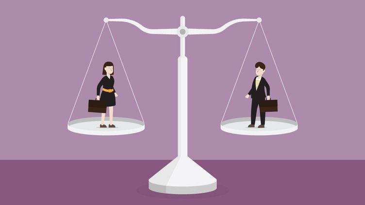 Balance d'équilibre entre homme et femme (illustration). (TOMMY / GETTY)