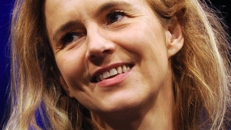La romancière Delphine de Vigan le 10 mars 2013 au festival de littérature de Cologne (Allemagne).  (Henning Kaiser / MaxPPP)