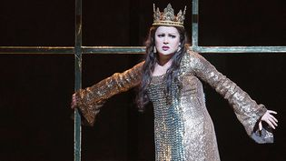"Anna Netrebko dans ""Macbeth"", Royal Opera House, Londres, le 22 mars 2018 (Alastair Muir/Shutterst/SIPA)"