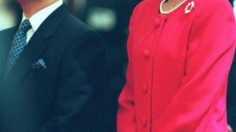 Nahurito et Masako lors d'une récéption au Japon en 1997. (KAZUHIRO NOGI / AFP)