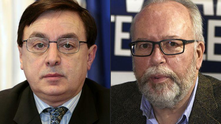 Axel Lousteau et Frédéric Châtillon deux proches de Marine Le Pensoupçonné d'escroquerie (JACQUES DEMARTHON / AFP)