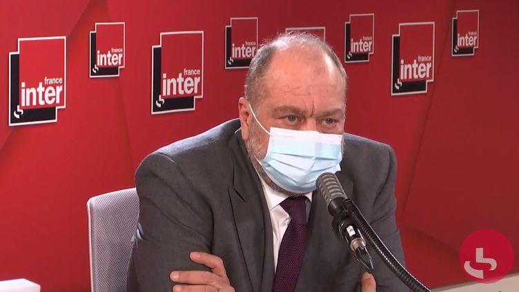 Éric Dupond-Moretti, ministre de la Justice, sur France Inter le 20 octobre 2020. (FRANCEINTER / RADIOFRANCE)