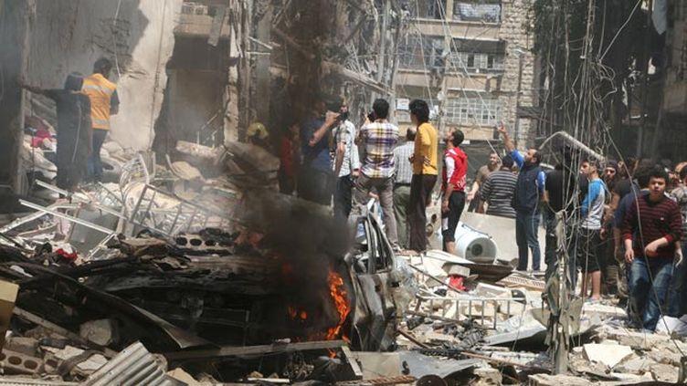 (Alep sous les bombes depuis neuf jours d'affilée © REUTERS / Abdalrhman Ismail)