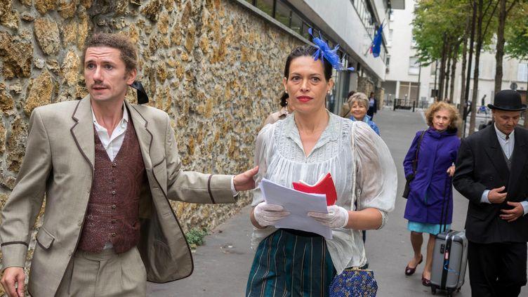 Mise en scène autourde la personnalite d'Alice Guylors de la troisième édition des journées du Matrimoine organisée par l'associationHF Ile de France, le 8 septembre 2017, à Paris. (MAXPPP)