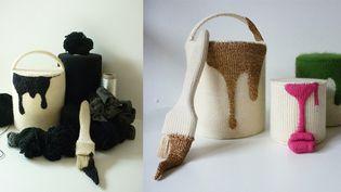100% laine : Camille Dupuis, des pots de peinture tricotés  (Camille Dupuis)