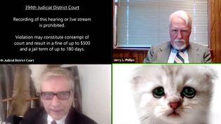 Un juge texan s'est lancé dans les audiences virtuelles. Grimé en chat à cause d'un filtre dont il n'est pas parvenu immédiatement à se débarrasser, il semble avoir beaucoup amusé ses interlocuteurs. (France Info)