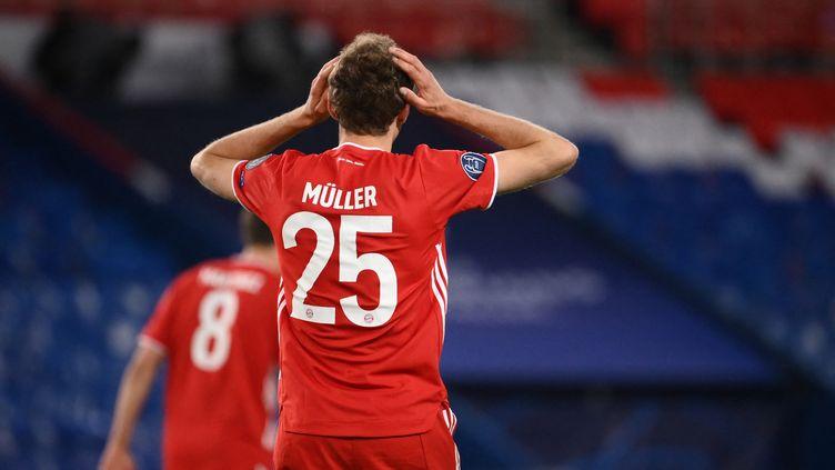 Le FC Bayern Munich ne s'est pas qualifié pour les demi-finales de la Ligue des champions, au stade du Parc des Princes, le 13 avril 2021. (FRANCK FIFE / AFP)