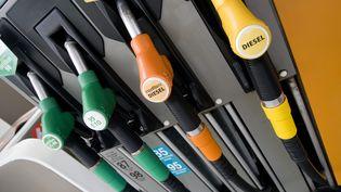 Des pompes à essence attendent les clients dans une station-service de Thionville (Moselle), le 9 avril 2014. (MAXPPP)