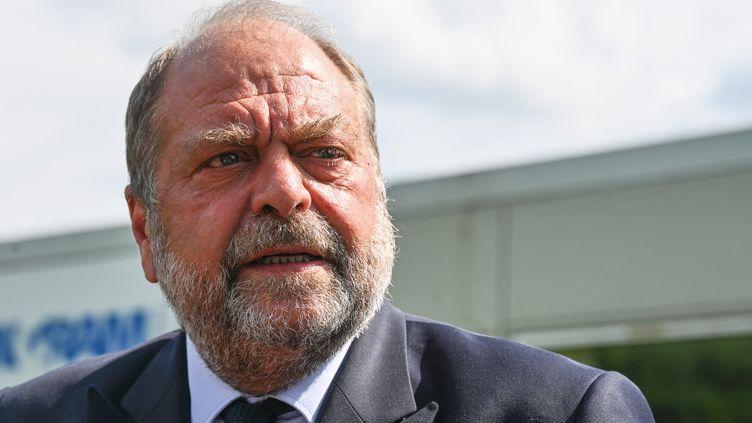 Le ministre de la Justice, Eric Dupond-Moretti, le 16 juillet 2021 à Beauvais (Oise). (DENIS CHARLET / AFP)
