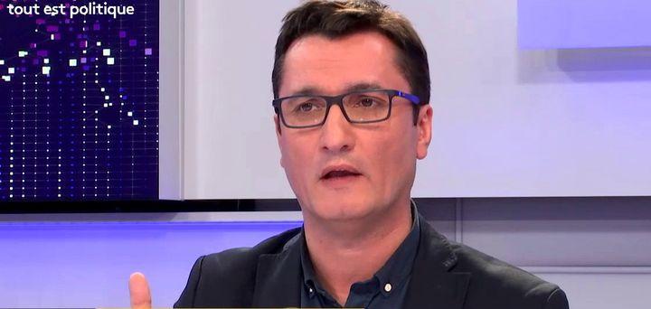 Olivier Dartigolles, porte-parole du Parti communiste français, était l'invité de franceinfo vendredi 30 mars 2018. (FRANCEINFO)
