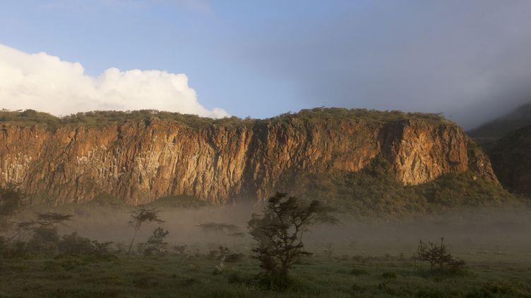Vue du parc national du Hell's Gate au Kenya. (DENIS-HUOT MICHEL / HEMIS.FR)