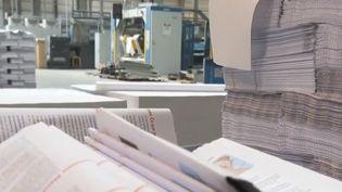 Les salariés d'une imprimerie de Saint-Étienne (Loire) viennent d'apprendre leur licenciement. Depuis vendredi 8 mars, les 133 ex-employés occupent l'usine. Ils dénoncent un gâchis industriel et accusent leur direction. (FRANCE 2)