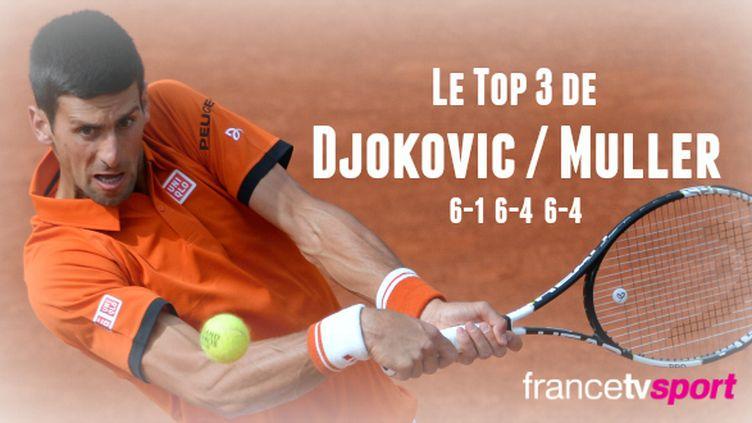 Une fois de plus, Novak Djokovic a régalé le public du court Suzanne Lenglen... Que ce soit dans le jeu ou pas !