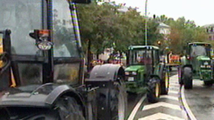 les producteurs laitiers européens convergent à Strasbourg pour manifester (© France 3)