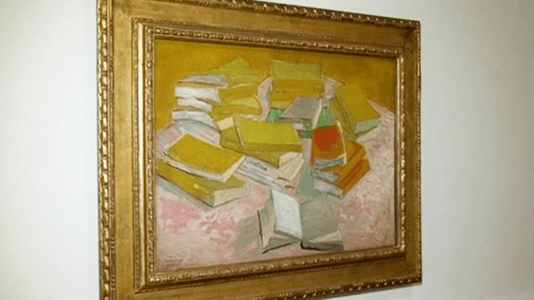 """""""Pile de romans français"""" Van Gogh 1887  (France3/culturebox)"""