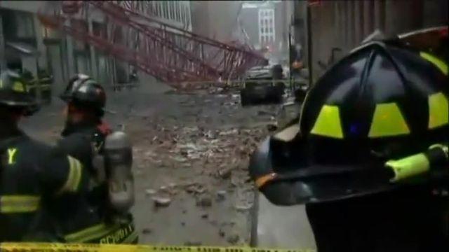 New York : au moins un mort à Manhattan après la chute d'une grue de chantier