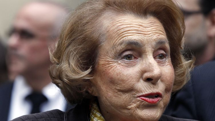 La milliardaire française Liliane Bettencourt à l'institut de France ke 12 octobre. (FRANCOIS GUILLOT)