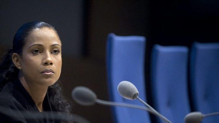 Christine Kelly, membre du CSA. (MARTIN BUREAU / AFP)