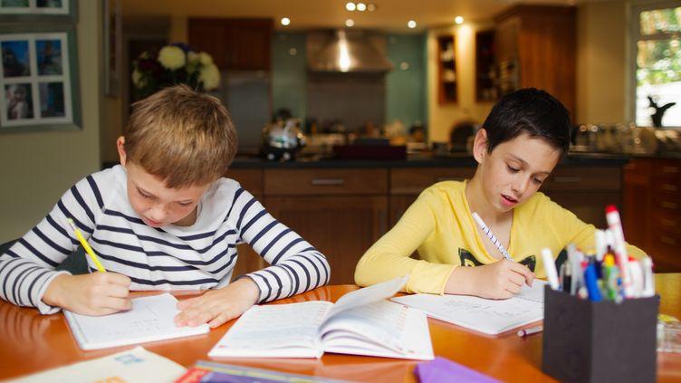 L'utilité du travail à la maison est contestée par la FCPE et certains enseignants. (MILLY K. / IMAGE SOURCE / AFP)