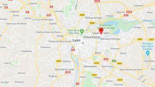 L'accident s'est produit non loin du centre-ville, avenue Voltaire àVaulx-en-Velin, près de Lyon (Rhône). (GOOGLE MAPS)