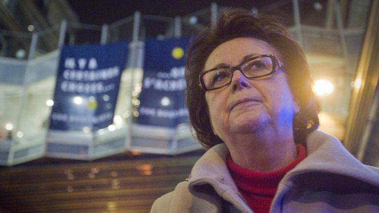 La présidente du Parti chrétien-démocrate Christine Boutin, aux Galeries Lafayette à Paris, le 15 décembre 2011. (JOEL SAGET / AFP)
