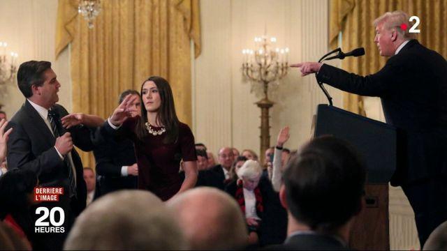 Derrière l'image : un journaliste de CNN s'accroche avec Donald Trump