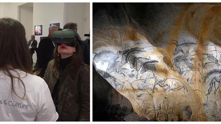 La beauté des fresques de la grotte Chauvet à portée de main grâce à la réalité virtuelle. (L. CROZAT / FRANCE TELEVISIONS / MAXPPP)