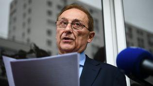 Didier Gailhaguet, lors de son annonce de démission, le 8 février 2020. (PHILIPPE LOPEZ / AFP)
