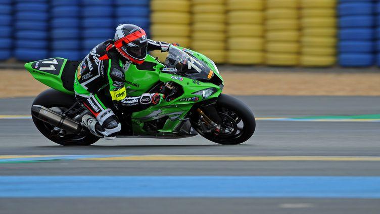 Matthieu Lagrive sur la Kawasaki N.11 (GUILLAUME SOUVANT / AFP)