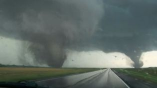 Deux tornades se seont rencontrés, lundi 16 juin, dans le Nebraska (Etats-Unis). (  FRANCETV INFO )