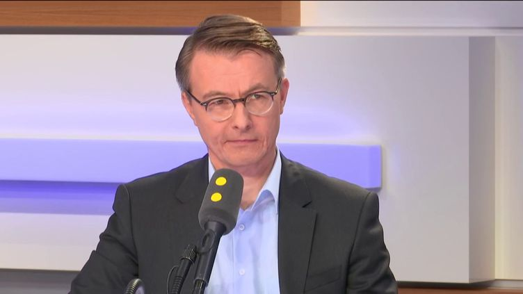 Dominique Schelcher, PDG de Système U, le 10 octobre 2018 sur franceinfo. (FRANCEINFO)