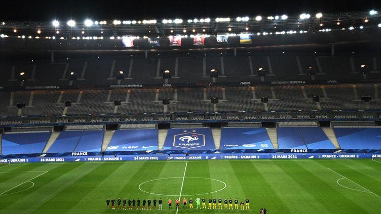 Le Stade de France, à Saint-Denis, le 24 mars 2021. (ANNE-CHRISTINE POUJOULAT / AFP)