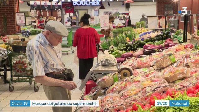 Coronavirus : port du masque obligatoire dans les supermarchés à partir du 20 juillet
