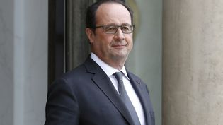 François Hollande, le 24 mai 2016 à l'Elysée. (PATRICK KOVARIK / AFP)