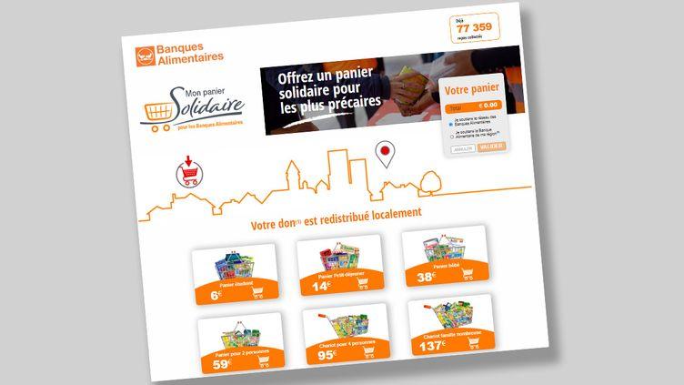 Le site monpaniersolidaire.org de la Banque alimentaire. (CAPTURE D'ÉCRAN)