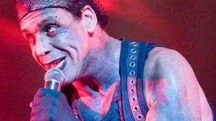 Thilo Lindemann, le chanteur de Rammstein en concert à Belgrade en 2010  (A.PLAVEVSKI/SIPA)