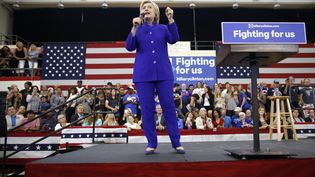 La candidate démocrate à la présidentielle américaine Hillary Clinton, à Los Angeles (Etats-Unis), le 6 juin 2016. (JONATHAN ALCORN / AFP)
