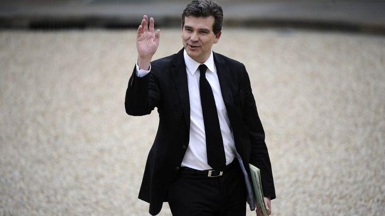 Arnaud Montebourg, ministre du Redressement productif, arrive à l'Elysée pour le Conseil des ministres, le 17 mai 2012. (LIONEL BONAVENTURE / AFP)