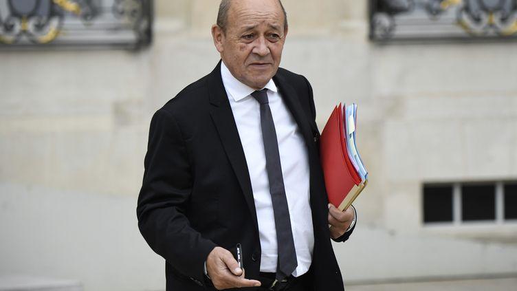 Jean-Yves Le Drian, ministre français des Affaires étrangères à l'Elysée, le 24 octobre 2018. (ERIC FEFERBERG / AFP)