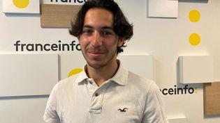 """Yannis El Amraoui, 19 ans, fondateur du réseau écolo """"Lycées en transition"""". (INGRID POHU / RADIO FRANCE)"""