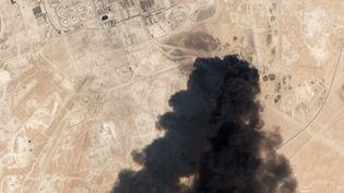 Le site d'Abqaiq, en Arabie saoudite, le 16 septembre 2019 après les attaques par drones. (HO / PLANET LABS INC / AFP)