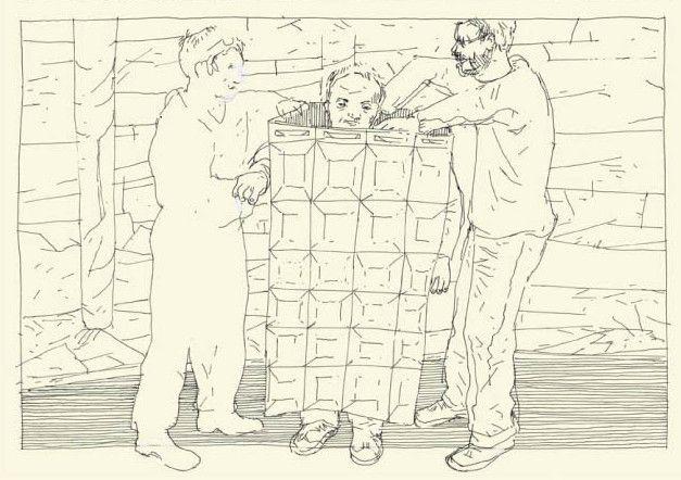 """""""Vivre à FranDisco"""", détail page 9, Marcel Schmitz et Thierry van Hasselt  (Marcel Schmitz et Thierry van Hasselt / Frémok Knock OUtsider)"""