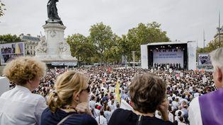 Paris, 17 septembre 2014 - Rassemblement des notaires place de la Republique, mobilises contre le projet de reforme des professions reglementees ( MAXPPP)