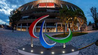 Le logo des Jeux paralympiques devant le Stade national olympique de Tokyo, samedi 21 août 2021. (EYEPRESS NEWS)