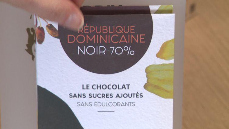 Un chocolat sans sucres ajoutés et sans édulcorants inventé en Touraine. (FRANCE 3 / CAPTURE D'ECRAN)