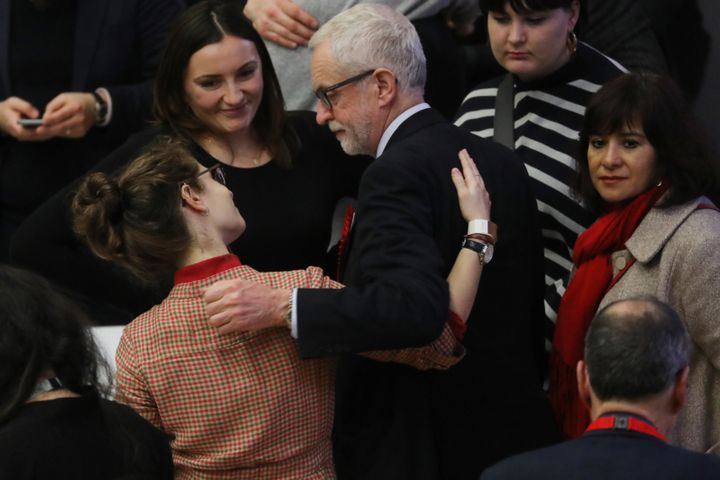 Le leader du Parti travailliste britannique, Jeremy Corbyn, à Islington, dans le nord de Londres (Royaume-Uni), le 13 décembre 2019. (ISABEL INFANTES / AFP)