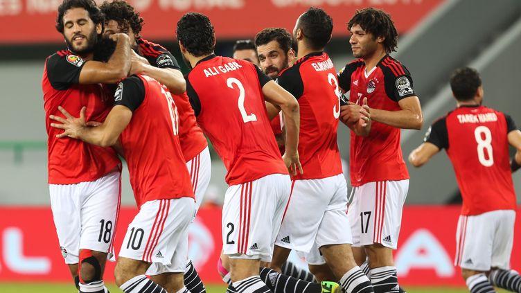 La joie des joueurs egyptiens (FARED KOTB / ANADOLU AGENCY)