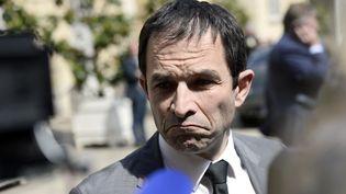 L'ancien ministre de l'Education nationale, Benoît Hamon, le 16 juin 2014, devant Matignon, à Paris. (STEPHANE DE SAKUTIN / AFP)