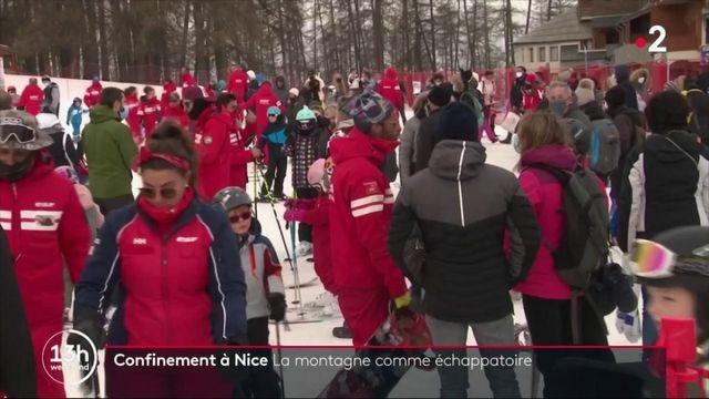 Confinement dans les Alpes-Maritimes : les Niçois quittent la mer pour la montagne