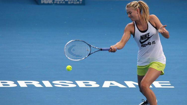 La Russe Maria Sharapova à l'entraînement